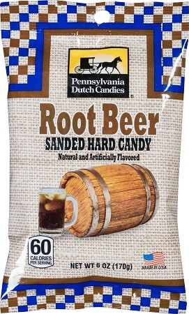 Old Fashioned Sanded Candy (ROOTBEER) Drops 6oz Bags 12ct box