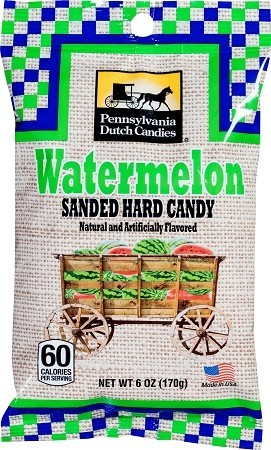 Old Fashioned Sanded Candy (WATERMELON) Drops 6oz Bags 12ct box