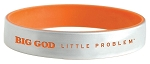 BIG GOD little problem® Silver Orange Silicone Bracelet
