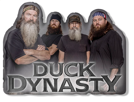 wholesale duck dynasty die cut pillow with sound quotes