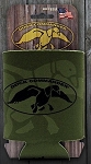 Duck Commander Can coozie, Olive green with Black logo