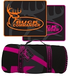Buck Commander Polar Fleece Blanket, Black/Pink logo
