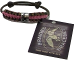 Duck Commander PINK CAMO braided survival bracelet w/ Duck Band