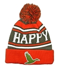 Official License Duck Dynasty HAPPY Knit Cuff Beanie with Pompom