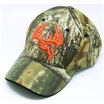 Longleaf Solid back Camo Cap, Orange logo