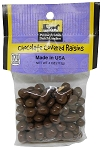Old Fashioned CHOCOLATE COVERED RAISINS 4 oz. Hanging Bag