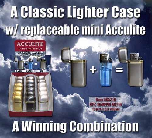 Acculite Lighter with case 18ct Display