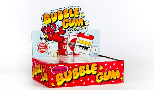 BUBBLE GUM CANDY STICKS 24/CT Display