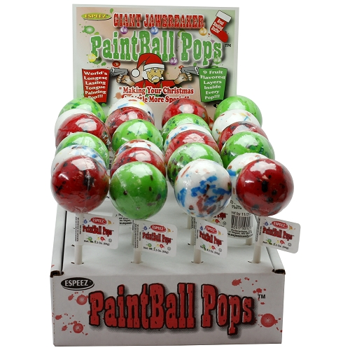 ESPEEZ CHRISTMAS PAINTBALL POPS 2.3 OZ. 24CT DISPLAY