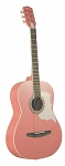 Johnson Student Acoustic Guitar, Pink W/Case & Stand