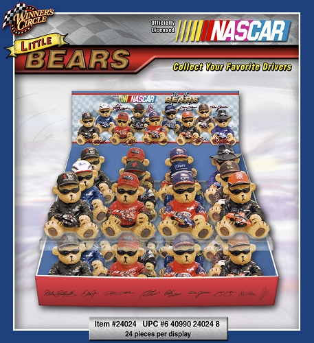 Nascar Mini Bears 24ct Display
