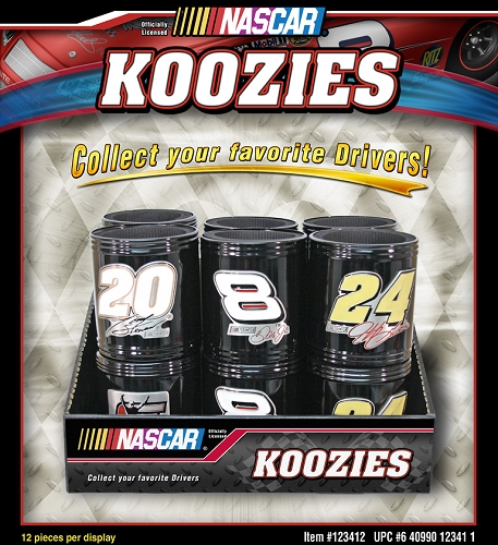 Nascar Metal Can Coolers 12ct display
