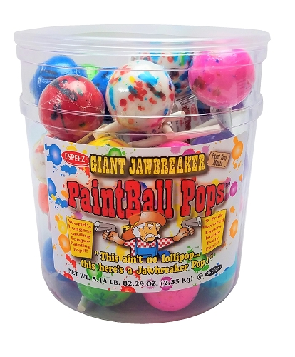 PAINTBALL POPS 2.3 OZ. 36CT JAR