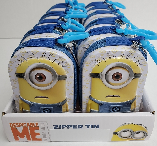 Minion Zipper Tins 12ct Display