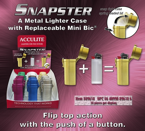 Snapster Lighter Cases 18ct Display
