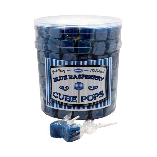 Espeez Old Fashioned Blue Raspberry Cube Pops 100ct Tub
