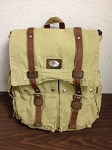 DUCKS UNLIMITED CANVAS BACKPACK W/ LEATHER TRIM