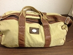 DUCKS UNLIMITED CANVAS DUFFLE BAG W/ LEATHER TRIM