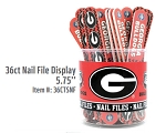 Ga Bulldogs 36ct Nail File Display