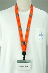 Guy Harvey Orange Neon Large Mouth Bass LANYARD