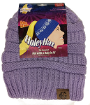 HoleyHat Ponytail Knit Hat with a Hole in it! Violet