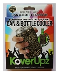 KOVERUPZ  TYVEK INSULATED CAN & BOTTLE COOLER LEOPARD DESIGN