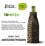 KOVERUPZ  HOBO-CHIC BAG INSULATED WINE BOTTLE COOLER LEOPARD DESIGN