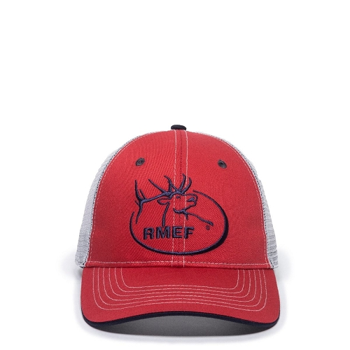 Rocky Mountain Elk Foundation RED/MESH Cap