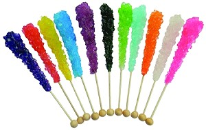 "Pennsylvania Dutch Candy 6"" ROCK CANDY Sticks 120CT Party Box"