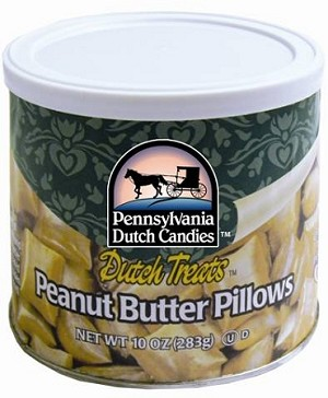 Dutch Treats Peanut Butter Pillows Made in USA 10oz. Can