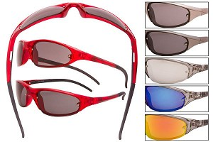 Sport Wrap Sunglasses Assorted Colors
