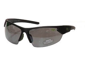 Duck Commander Half Frame Sunglasses with OD Green Accents, Matte Black