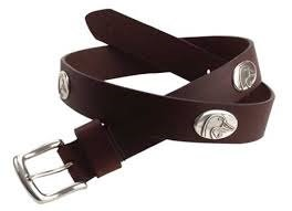 Ducks Unlimited Concho Leather Belt