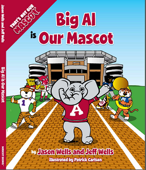 "SEC Football University of Alabama Crimson Tide ""Big Al is our Mascot"" Children's Book"