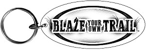 Blaze your own Trail™ Made in USA Wood Keychain