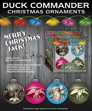 Wholesale Duck Commander Set of 4 Christmas Ornament Gift Box