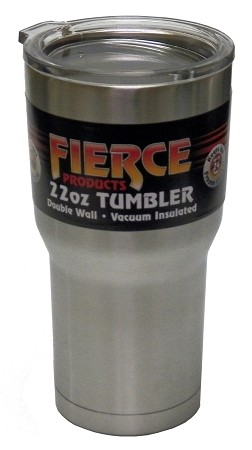 22oz. Double Wall Vacuum Insulated Stainless Steel Fierce Tumbler  *Compare to YETI
