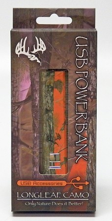 Longleaf Orange camo power bank