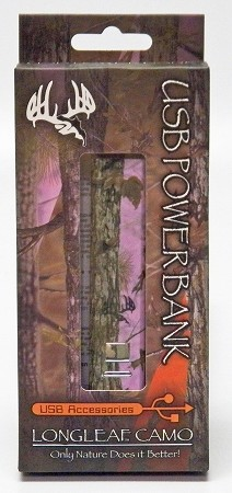 Longleaf Pink camo power bank