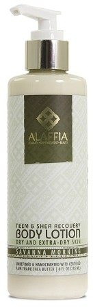 Alaffia Neem & Shea Butter Recovery Lotion, Savannah Morning, 8oz.