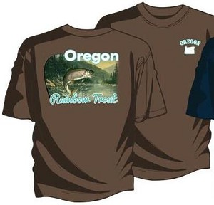 Hautman Brothers Oregon Rainbow Trout - Men's Short Sleeve Crew Neck Screen Printed T-Shirt