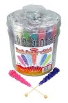 Wholesale Old Fashioned Rock Candy Crystals on a Stick 7 Assorted Flavors 36CT Tub