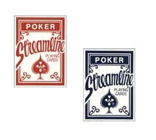 Wholesale Streamline Rack Pack Assorted Playing Cards Red & Blue 12 packs to a carton