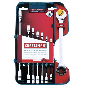 Craftsman 8 pc. Metric Dual Ratcheting Wrench Set